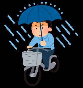 傘さし運転